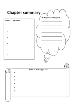 Basic chapter summary template by Adriana S | Teachers Pay Teachers