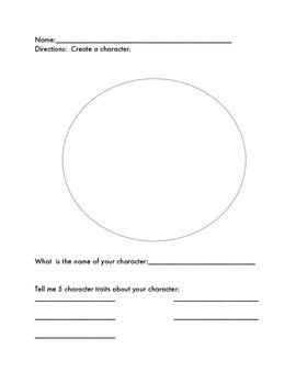 Basic character worksheet