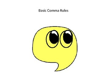 Basic comma rules powerpoint