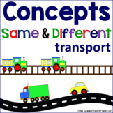 Basic concepts for speech therapy Same and Different