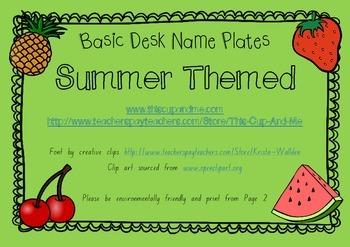 Basic desk name plates