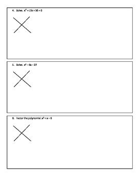 Quadratics factoring notes (a = 1)