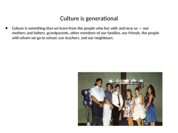Basic introduction to 'what is culture?'