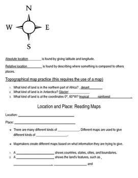Basic map skills notes outline