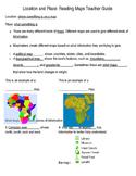 Basic map skills notes outline