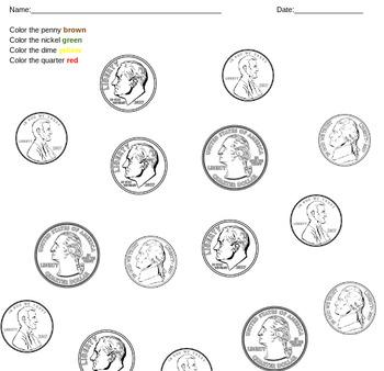 Basic money worksheet set
