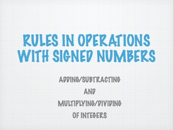 Basic operations with signed numbers keynote mac