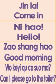 Basic phrases for learning Chinese