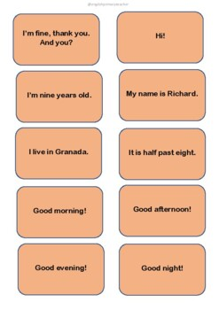 Basic questions cards
