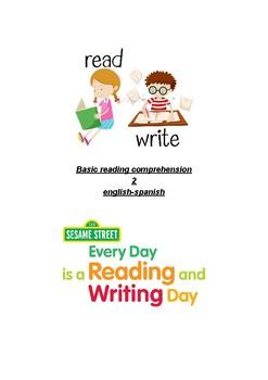 Basic reading comprehension 2 english-spanish