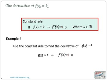 Basic rules of derivative