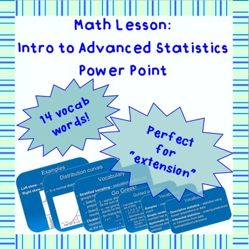 Basic standard deviation, distribution curves, and statistics Power Point