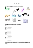 Basic verbs, speaking verbs (Worksheet) ESL