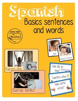 Basic words and sentences
