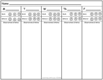 Basic work & behavior Chart