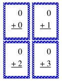 Basic Addition Flashcards Blue Dot Border