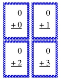 Basic Addition Flashcards Blue Dot Border