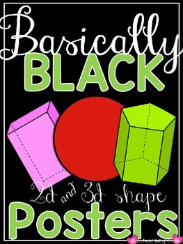 Basically Black {Classroom Decor Shape Posters}
