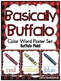 Basically Buffalo | Buffalo Plaid w Crayons | Color Words