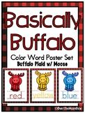 Basically Buffalo | Buffalo Plaid w/ Moose | Color Words P