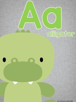 Basically Gray {Classroom Decor Alphabet Posters}