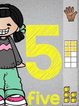 Basically Gray {Classroom Decor Number Posters}