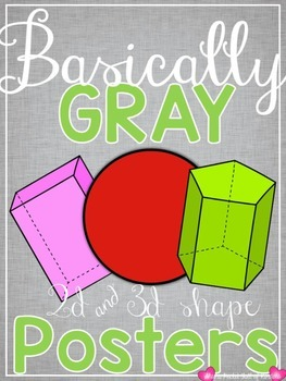 Basically Gray {Classroom Decor Shape Posters}