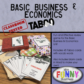 Basics business economics taboo by mrs funny business tpt basics business economics taboo reheart Gallery