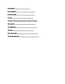 Basics Review- Spanish