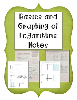 Basics and Graphing of Logarithms