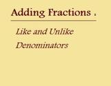 Basics of Adding Fractions