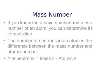 Basics of Atoms Explained - Quick Review Science Handout and Presentation
