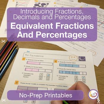 Converting Fractions, Decimals and Percentages Worksheets/Printables