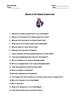 Basics of Federal Goverment Guide