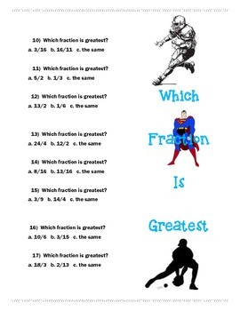 Fractions Worksheets-CCSS 3rd Grade