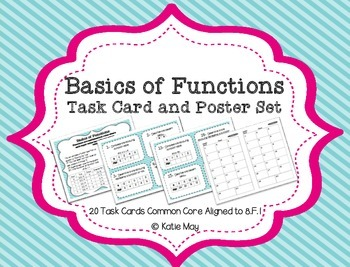 Basics of Functions: Task Card and Poster Set *Aligned to