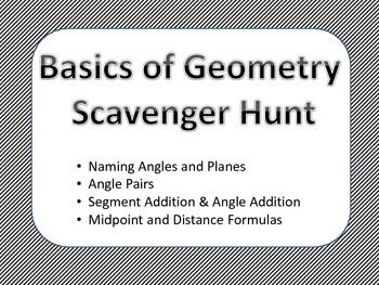 Basics of Geometry Scavenger Hunt Activity