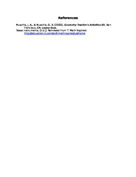 Basics of Geometry Unit Plan