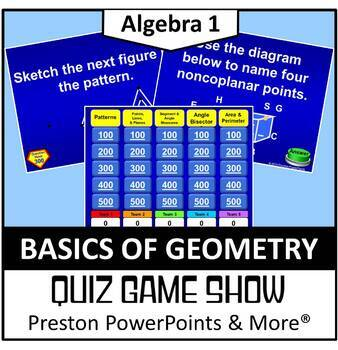 Quiz Show Game Basics of Geometry in a PowerPoint Presentation