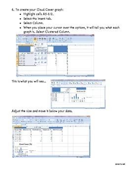 Basics of Microsoft Excel - Weather Graphing