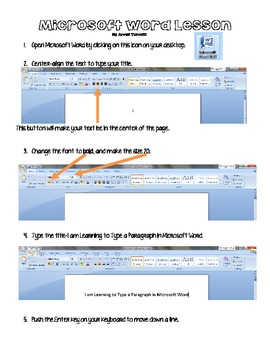 Basics of Microsoft Word - Typing a Paragraph