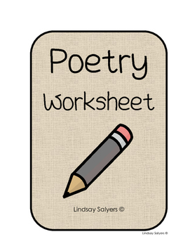 Poetry Basics Worksheet