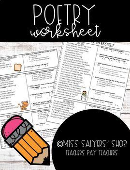 Poetry Basics Worksheet