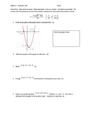 Basics of Quadratic Equations Test