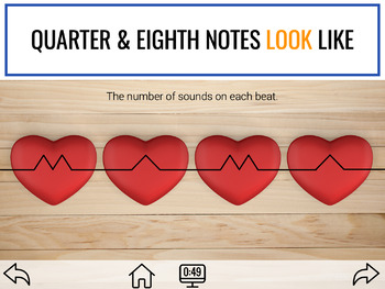 Basics of Quarter and Barred Eighth Notes for Elementary Music