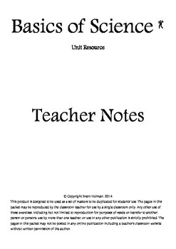 Basics of Science Teacher Notes