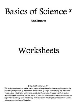 Basics of Science Worksheets