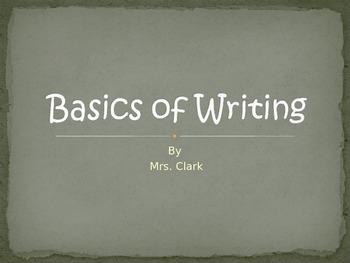 Basics of Writing