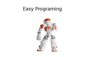 Basics to Program a NAO Robot