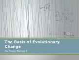 Basis of Evolutionary Change Powerpoint